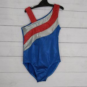 Balera MC Leotard blue red and silver size 3 XXS